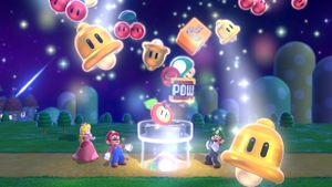 Other hidden Luigis found in the intro cutscene for Super Mario 3D World.