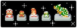"""In-game notification banner for """"Weekend Spotlight: Retro Items"""" in Super Mario Run."""