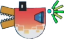 A Bittacuda from Super Paper Mario.