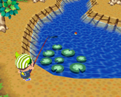 Animal Crossing: Wild World in WarioWare: Smooth Moves.