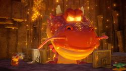 Boss level screenshot of Captain Toad: Treasure Tracker.