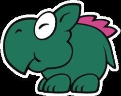 A Dino Rhino in Paper Mario: The Origami King