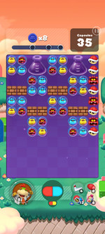 Stage 592 from Dr. Mario World