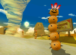 The icon for Dry Dry Desert, from Mario Kart Double Dash!!.