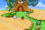 Mario and Lakilester in Flower Fields.