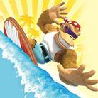 Preview for a Play Nintendo opinion poll on Funky Kong's moves in the Nintendo Switch version of Donkey Kong Country: Tropical Freeze. Original filename: <tt>1x1-DKTF_poll_1.a25bebd1.jpg</tt>