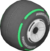 The Slick_Black tires from Mario Kart Tour