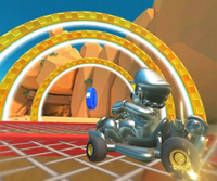The icon of the Dry Bowser Cup challenge from the New York Tour and the Baby Rosalina Cup challenge from the Wild West Tour in Mario Kart Tour.