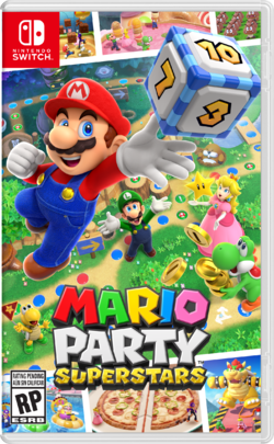 North American box art for Mario Party Superstars