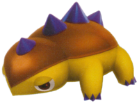 Artwork of a Pupdozer from Super Mario Galaxy 2.