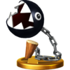 Chain Chomp's trophy render from Super Smash Bros. for Wii U