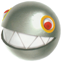 Artwork of a Silver Chomp from Super Mario Galaxy 2.