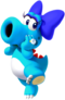 Artwork of Birdo (Light Blue) from Mario Kart Tour