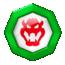 A Team token of team Bowser from Mario Kart Tour