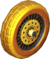 The Block_Gold tires from Mario Kart Tour