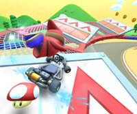 The Shy Guy Cup Challenge from the Ice Tour of Mario Kart Tour