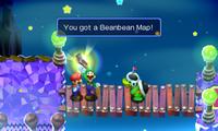 Mario and Luigi receiving the Beanbean Map from the Border Bros