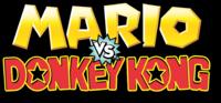 The logo of the new Mario vs. Donkey Kong