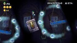 Screenshot of Boo's Favorite Haunt in New Super Luigi U.