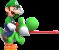 New Super Mario Bros. U Deluxe Luigi with Yoshi.png