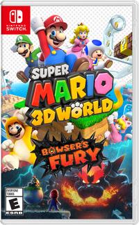 Final North American box art for Super Mario 3D World + Bowser's Fury
