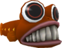 Rendered model of the Gringill enemy in Super Mario Galaxy.
