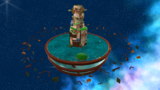 "A screenshot of Buoy Base Galaxy during ""The Floating Fortress"" mission from Super Mario Galaxy."