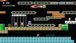 A P Switch's Journey level in Super Mario Maker