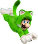 Artwork of Cat Luigi, from Super Mario 3D World.