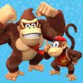Option in a Play Nintendo opinion poll on which pair of Kongs to play as in the Nintendo Switch version of Donkey Kong Country: Tropical Freeze. Original filename: <tt>1x1_DKCTFSwitchPoll1_DK_Diddy_v01.6ef5f3152e16d0ba.jpg</tt>