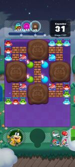 Stage 1107 from Dr. Mario World