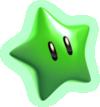 Artwork of a Green Star from Super Mario 3D World.