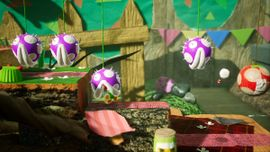 Jumping to Victory, the second level of Acorn Forest in Yoshi's Crafted World.
