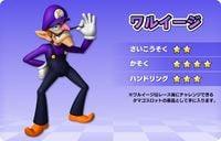 Artwork of Waluigi, for Mario Kart Arcade GP DX