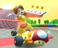 The icon of the Mario Cup's challenge from the Cooking Tour in Mario Kart Tour.