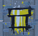 Graffiti of a golden Warp Pipe in Super Mario 3D World + Bowser's Fury