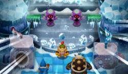 The shroobs attack Bowser Jr. in Mario & Luigi: Bowser's Inside Story + Bowser Jr.'s Journey