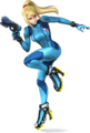 Zero Suit Samus in Super Smash Bros. for Nintendo 3DS / Wii U.