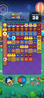 Stage 672 from Dr. Mario World