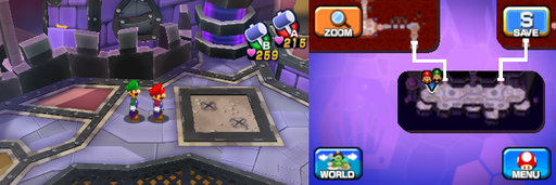 Location of the tenth and eleventh beanholes in Neo Bowser Castle (Dream Team's version).