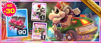 The Koopa King Pack from the Exploration Tour in Mario Kart Tour