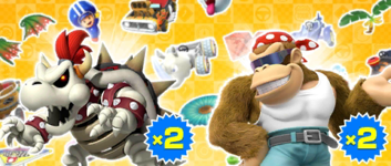 The Bowser vs. DK Pipe 1 from the Bowser vs. DK Tour in Mario Kart Tour
