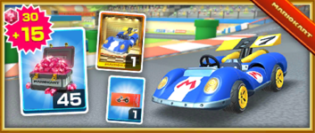 The Blue Seven Pack from the Ice Tour in Mario Kart Tour