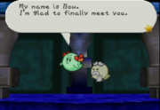 Lady Bow's butler Bootler in the Paper Mario series