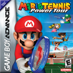 North American box art for Mario Tennis: Power Tour