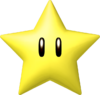 Artwork of a Super Star from Mario Kart 7