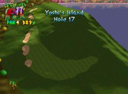 Hole 17 of Yoshi's Island from Mario Golf