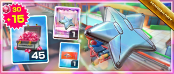 The Silver Starchute Pack from the Mario Tour in Mario Kart Tour