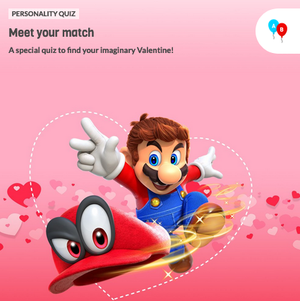 The icon for Nintendo Valentine's Day Personality Quiz