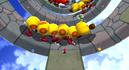 Mario in Supermassive Galaxy in Super Mario Galaxy 2. Giant Wigglers are seen.